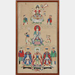 Painting of Guanyin with Officials