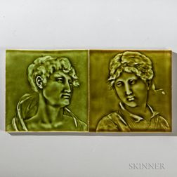 Two Villeroy & Boch Art Pottery Tiles