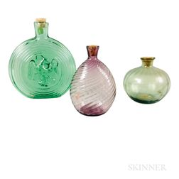 Two Glass Flasks and a Bottle
