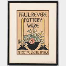 Framed Paul Revere Pottery Advertisement
