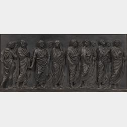 Wedgwood Black Basalt Roman Procession   Plaque