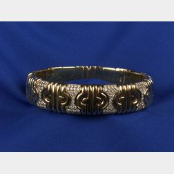 18kt Gold and Diamond Bangle Bracelet