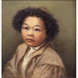 George Albert Frost (American, 1843-1907)      Portrait of a Boy