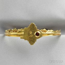 18kt Gold Key Bangle, Noma Copley