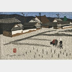 Kiyoshi Saito (Japanese, 1907-1992)      Plowing.
