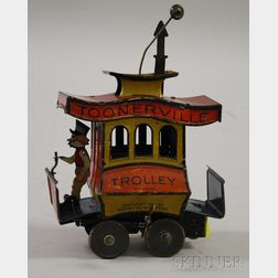 Toonerville Trolley Lithographed Tin Wind-up Toy
