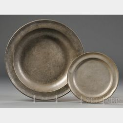 Pewter Deep Dish and Plate