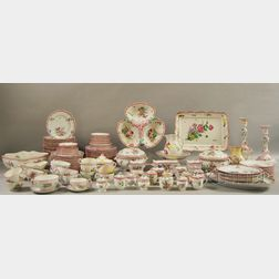 Keller & Guerin Porcelain Old Strasbourg   Pattern Partial Dinner Service