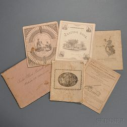 Copy Books, Six, 19th Century, British and American.