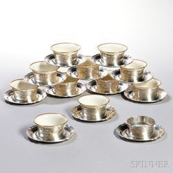 Twelve Reed & Barton Sterling Silver Bouillon Cups