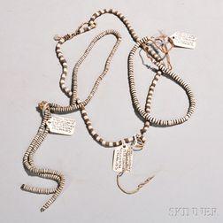 "Three Solomon Islands Shell ""Money"" Necklaces"