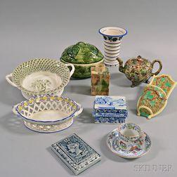 Eleven Pieces of English Ceramics