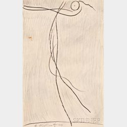 Abraham Walkowitz (American, 1878-1965)      Two Drawings of Isadora Duncan