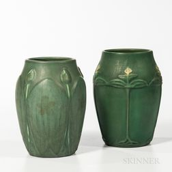Two Hampshire Art Pottery Vases
