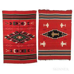 Two Chimayo Wool Weavings