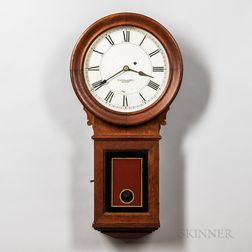 E. Howard & Co. Stained Oak No. 70 Wall Regulator
