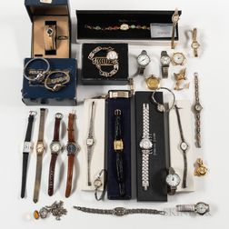 Collection of Vintage and Contemporary Women's Wristwatches