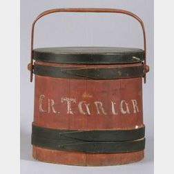 Painted Wooden Covered Firkin