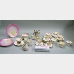 Group of Assorted Ceramic Tableware and Table Items