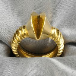"18kt Gold ""Screw"" Ring, Noma Copley"