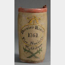 "Painted Leather Fire Bucket ""Dernier Resort Fire Society/1761"""