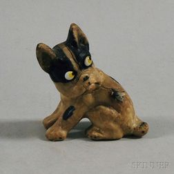 Carved Wax Boston Terrier