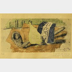 After Georges Braque (French, 1882-1963)      Still Life with Pipe