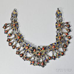 Silverwork Cloisonne Necklace