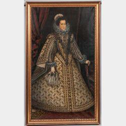 After Rodrigo de Villandrando (Spanish, 1580-1628)      Copy of the Standing Portrait of Isabel de Borbón