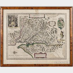 Virginia. Henricus Hondius (1573-1650) Nova Virginiae Tabula.