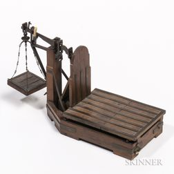 Miniature Brass-bound Platform Scale Model or Patent Model