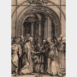 Albrecht Dürer (German, 1471-1528)      The Betrothal of the Virgin