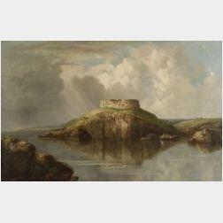 William Guy Wall (Irish/American, 1792-1864)  Fort Dumpling, Narragansett Bay