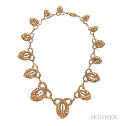 Gold Filigree Necklace