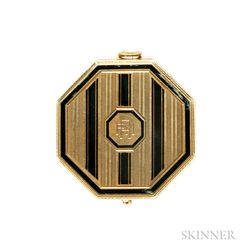 Art Deco 14kt Gold and Enamel Compact, Tiffany & Co.