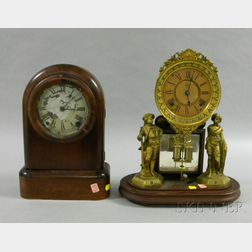 Two Eight-Day Mantel Clocks by Ansonia and Seth Thomas