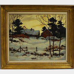 John Cuthbert Hare (American, 1908-1978)      Farm in Winter.