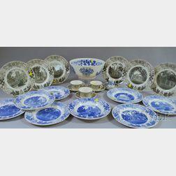 Group of Wedgwood Bowdoin College Ceramic Tableware