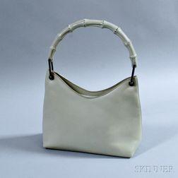 Gucci Gray Leather Hobo Bag