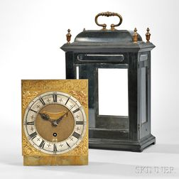 Nathan Seddon Ebonized Table Clock