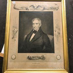 Framed Wakefield Engraving of William Henry Harrison