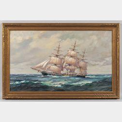 Frank Vining Smith (Massachusetts, 1879-1967)      Portrait of a Sailing Ship