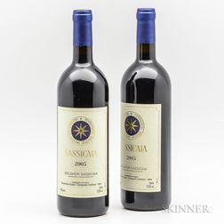 Tenuta San Guido Sassicaia 2005, 2 bottles