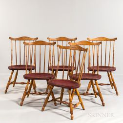 Set of Six Painted Pennsylvania-type Windsor Chairs
