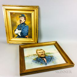 American School, 20th Century    Portraits of General Daniel Sickles and General Ulysses S. Grant