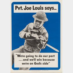 """Pvt. Joe Louis says..."" Recruitment Poster"
