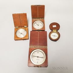 Four Cased Pocket Compasses