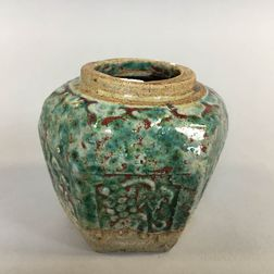 Turquoise-glazed Ceramic Jarlet