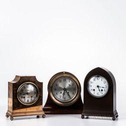 Three Chelsea Table Clocks