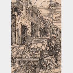 Albrecht Dürer (German, 1471-1528)      The Sojourn of the Holy Family in Egypt